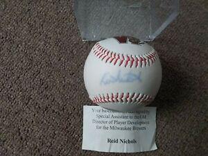 Reid Nichols Autographed WI. TImberrattlers Baseball SGA First 500 W/Ball Cube