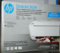 Hp Deskjet 3634 Compact All-in-one Photo Printer With Wireless & Mobile Printing