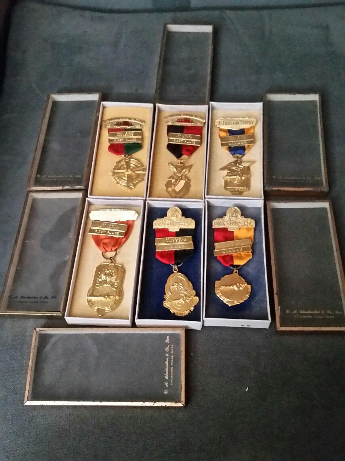 Premio De Tiro 1956-1959 Rifle Pistola Club medallas. wa-ke -. NRA. Lote DE DE 6 Varios