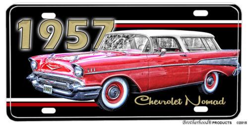 1957 Chevrolet Nomad Station Wagon Aluminum License Plate