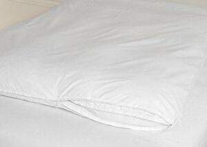 Cotton Zippered Feather Bed Cover White King 845256007638