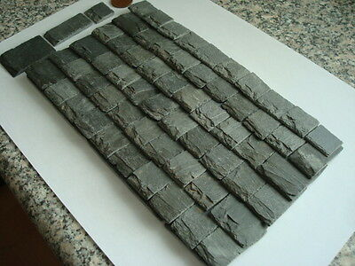 50 REAL MINIATURE SLATES FOR DOLLS HOUSE, OVER 80 YEARS OLD VERY REALISTIC