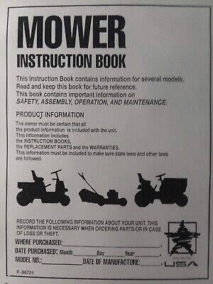 Murray Hydrostatic Drive Riding Lawn Mower Tractor Owners
