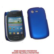 Pellicola + Custodia BACK COVER RIGIDA BLU per Samsung Galaxy Star S5280