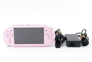 Sony-PSP-3000-Launch-Edition-Blossom-Pink-Handheld-System-Console-Excellent