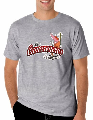 Baseball Los Camaroneros de Nayarit T-Shirt for Men/'s Color Gray 100/% Cotton