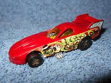 1977 HOT WHEELS FUNNY CAR DRAGSTER INBRAINSION 1:64 DIECAST RACE CAR - NICE