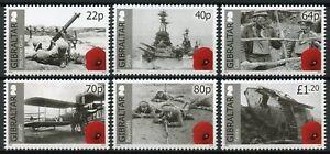 Gibraltar-2015-MNH-WWI-WW1-World-War-I-Part-II-6v-Set-First-Ships-Tanks-Stamps