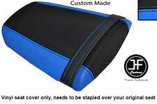 LIGHT BLUE & BLACK VINYL CUSTOM FITS HONDA CBR 600 RR 07-12 REAR SEAT COVER ONLY