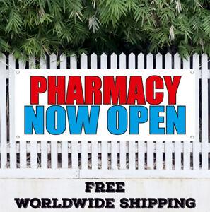 Banner-Vinyl-PHARMACY-NOW-OPEN-Advertising-Sign-Flag-Medication-Grand-Opening