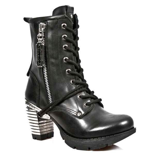New Rock zapatos de botín señora botas botín de apartado Boots Gothic Razorblade 633c5c