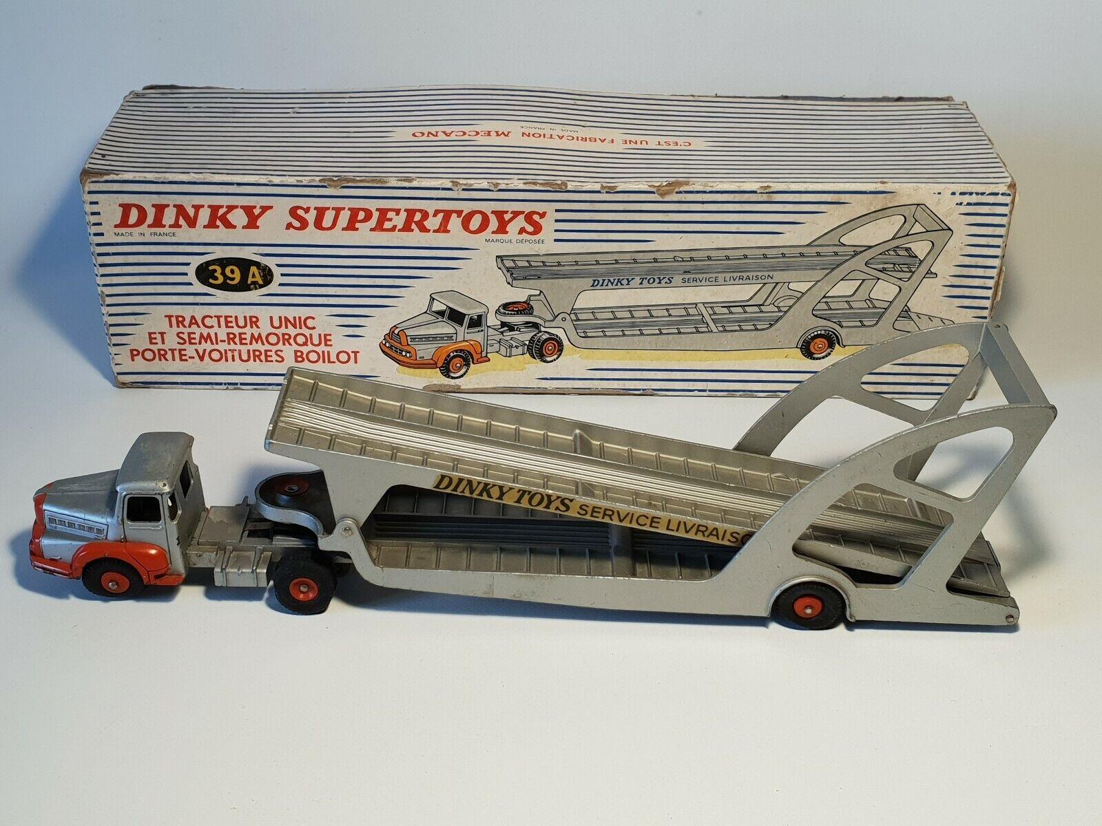 dinky toys 39A tracteur unic et semi-remorque porte voitures Boilot