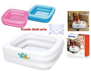 Vasca Da Bagno Gonfiabile Per Bambini : Vaschetta gonfiabile per bagnetto vasca neonati bambini da viaggio
