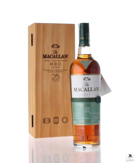 Macallan 25 Year Old Fine Oak Single Malt Scotch Whisky 700ml in Box