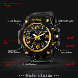 SKMEI-New-Men-Dual-Display-Quartz-Waterproof-Fashion-Sports-Alarm-Date-Watches