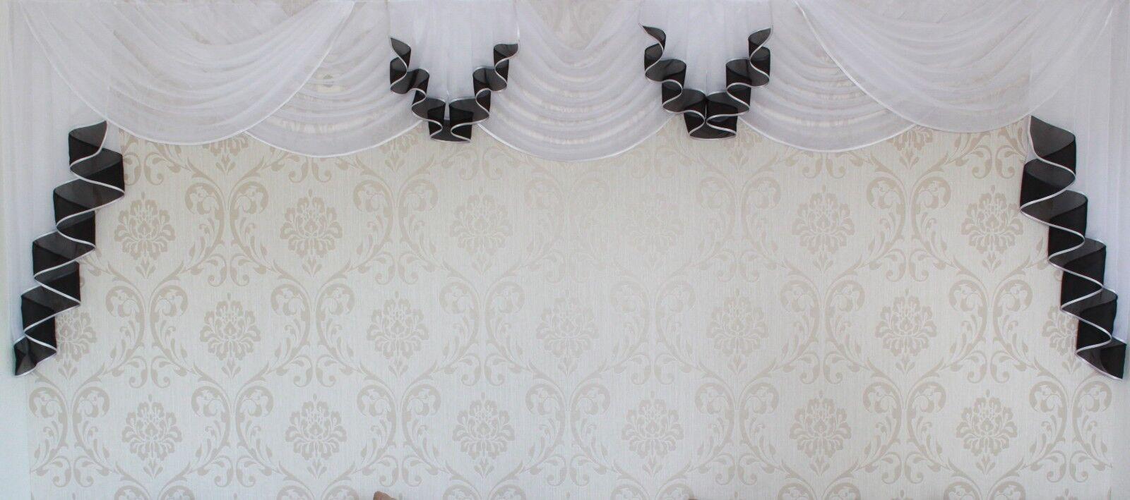 Deko - Gardine, Store, Vorhang in der Farbe  schwarz   weiß | Wirtschaftlich und praktisch