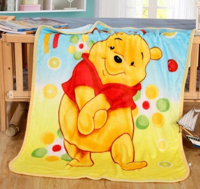 Winnie the Pooh Coral Fleece Blanket 70CM*100CM Throw Blanket Soft Warm Rug Plus