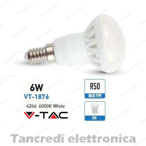Lampadina-led-V-TAC-6W-40W-E14-bianco-freddo-6000K-VT-1876-R50-faretto-bulbo