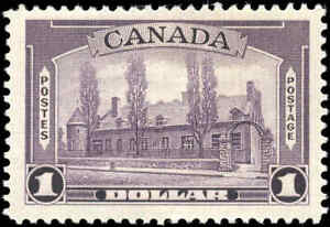 1938-Mint-H-Canada-F-VF-Scott-245-1-00-Pictorial-Issue-Stamp