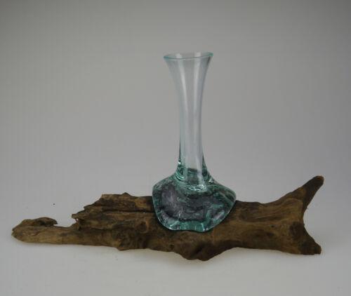 Holzwurzel Vase hoch Teak Holz Unikat Glas Kaffeebaum Wurzel Deko Figur 5-8