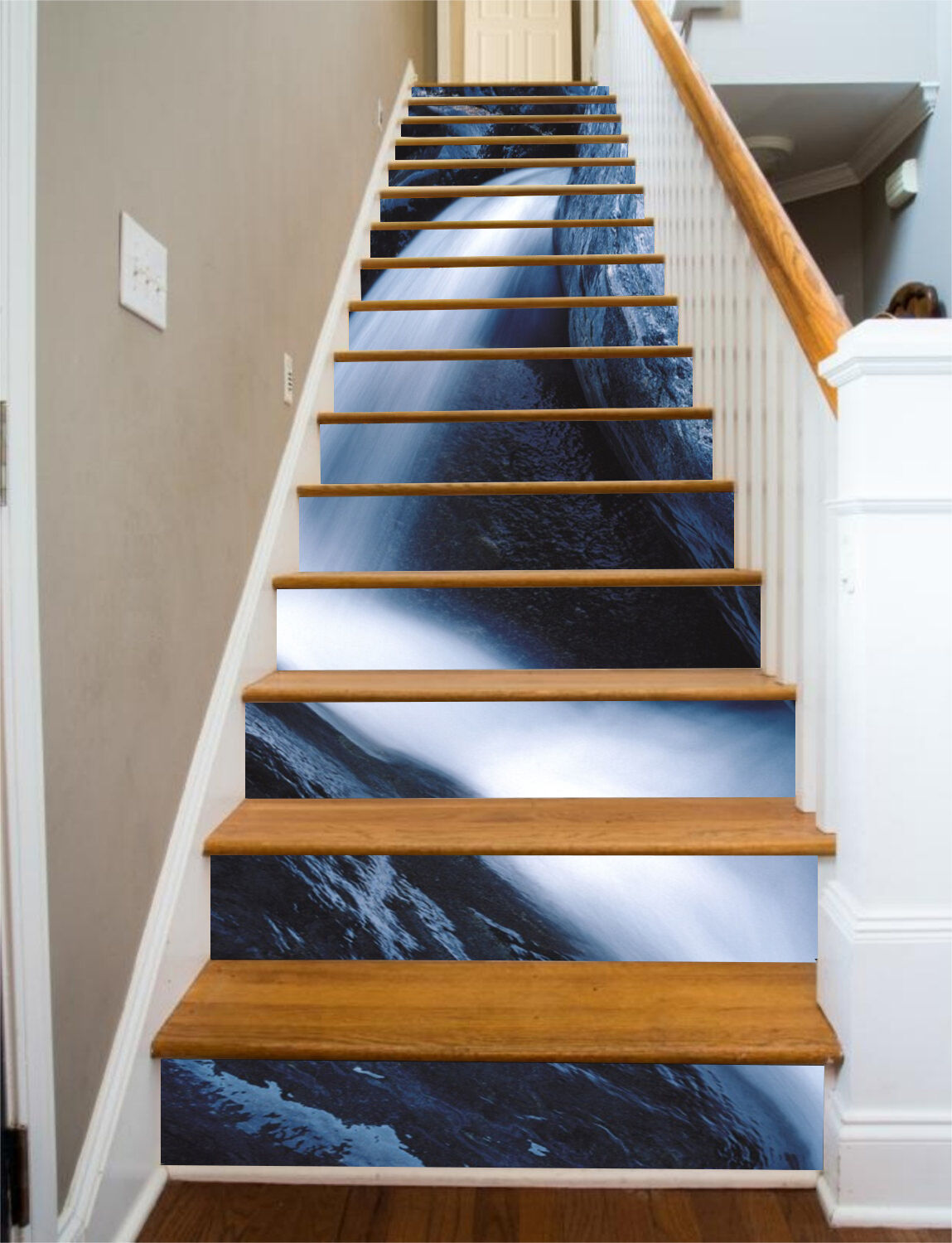 3D Stone, water 377 Stair Risers Decoration Photo Mural Vinyl Decal Wallpaper AU