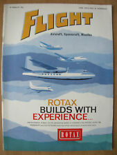 FLIGHT AIRCRAFT SPACECRAFT MISSILES MAGAZINE MARCH 10th 1961 ROTAX SYSTEM