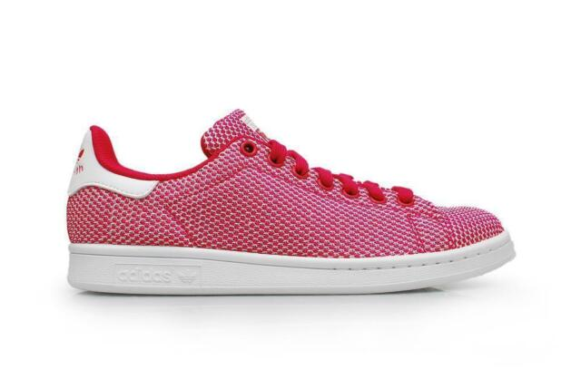 Womens Adidas Originals Stan Smith Weave Pink White Casual Trainers B23487