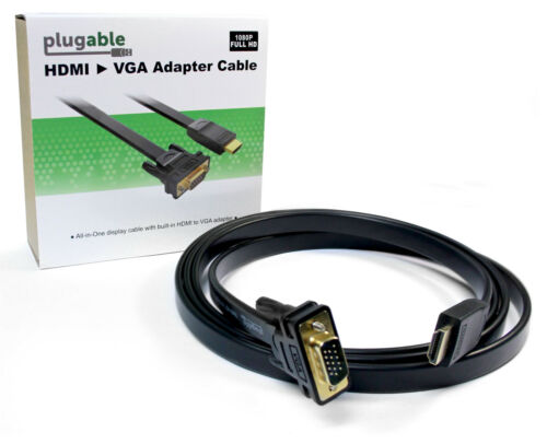 1.8m Plugable Monitor Adapter Cable 6ft HDMI to VGA