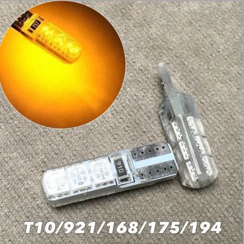 PARKING LIGHT No Canbus Error T10 W5W 168 175 194 2825 6 SMD LED Amber bulb W1 J
