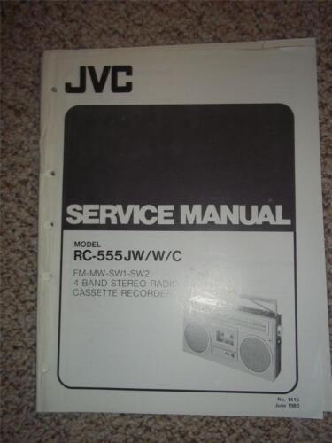 JVC Service Manual~RC-555JW//C Radio Cassette Recorder~Original~Repair