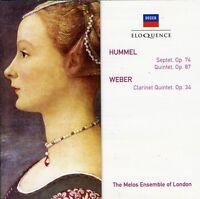 Melos Ensemble Of Lo - Hummel: Sept In D Minor / Weber: Clr Qnt [new Cd] on Sale
