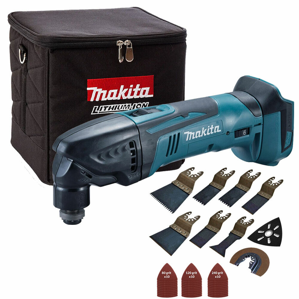 Makita DTM50Z 18V Oscillating Multitool + Cube Tool Bag + 39pcs Accessories Set