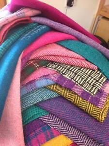 Harris-Tweed-Fabric-cloth-luck-dip-offcut-bundle-6-pieces-B-22cm-x-25cm