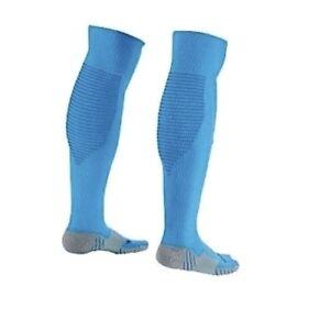 d1e81ac57 NIKE Matchfit Cushioned Sky Blue OTC Soccer Socks NEW Youth Mens Sz ...