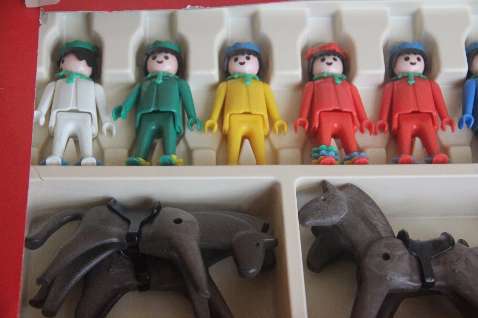 VINTAGE RARE INDIAN DELUXE TOY PLAYMOBIL 025 025 025 25 SCHAPER HORSE 1976 SET NATIVE 0b4040