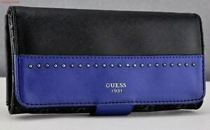 Details about FREE Ship USA Chic SLG Wallet GUESS Limited HAILEY Indigo Multi Ladies Lovely
