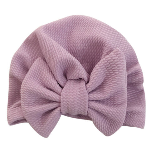 Cute Newborn Baby Girl Toddler Floral Print Knotted Turban Soft Cap Fetal Hat 1x