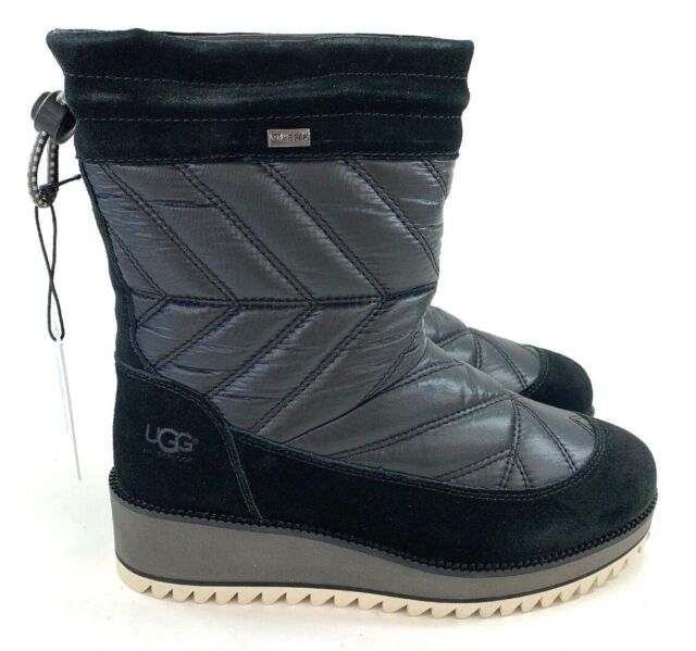 Ugg Women's Beck Boot Waterproof Weather Rated Nylon Wool Winter Snow Boot
