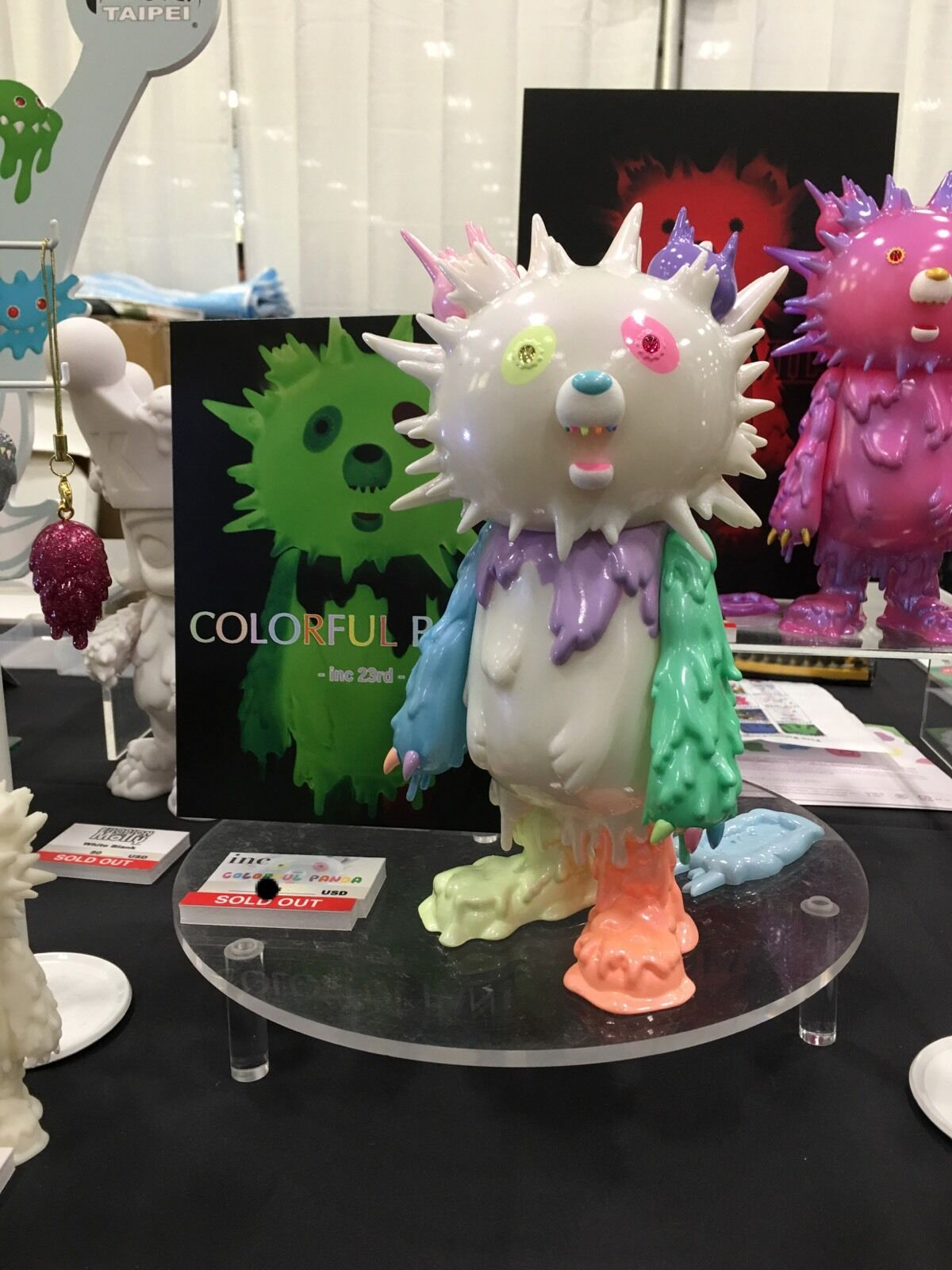 Instinctoy colorful Panda Five Points Points Points Festival Limited Exclusive Sofubi In Hand f29320