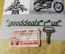 NOS Kawasaki OEM KEY BLANK #1025  27008-1030 for MC1 90, KH100,  KT250 Trial