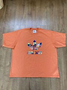 Adidas Love Unites T-Shirt Orange Size XXL Pride 100% Cotton