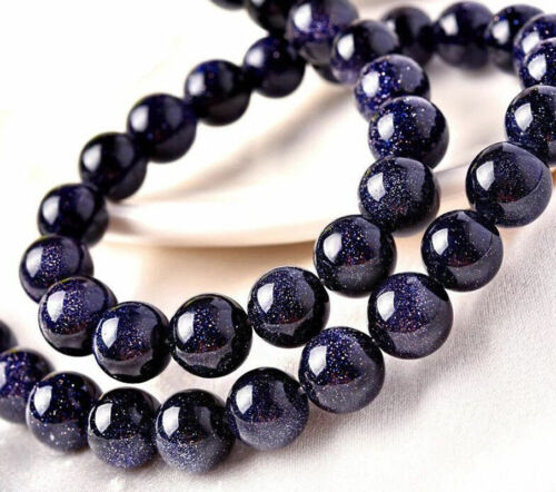 "6//8//10//12//14mm Galaxy Staras Blue Sand Sun Sitara Gems Round Loose Beads 15/"" AAA"