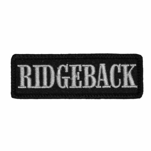 Desintonations patch écusson Velcro Rhodesian Ridgeback Chiens Race Dogs animal de compagnie