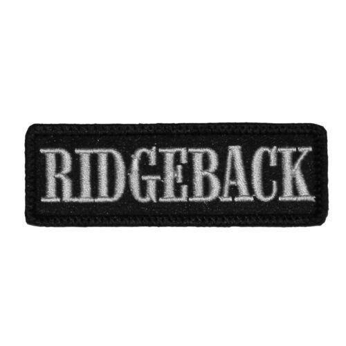 Wechselbarer Patch Aufnäher Klett Rhodesian Ridgeback Hunde Rasse Dogs Haustier