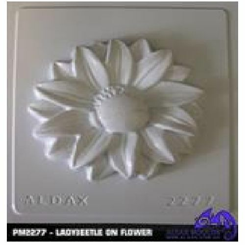 Ladybeetle on Flower Plaster Mould//Mold//Moulds//Molds 2277