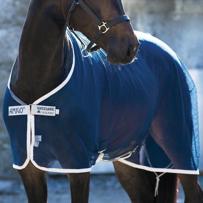 9513  COPERTA A RETE DOPO LAVoro HORSEWARE AMIGO NET COOLER