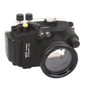 Meikon-40M-Waterproof-Underwater-Housing-Case-Bag-for-Sony-NEX-7-16-50mm-Lens