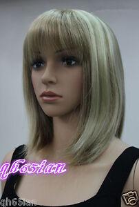 Ladies Fashion Light Blonde Short Natural Hair Women S Wigs Wig