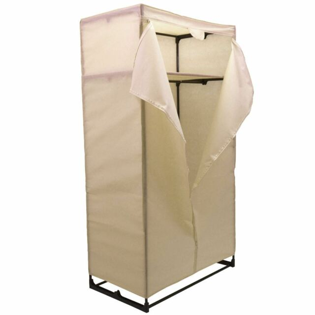 Double Wardrobe Cream Organiser Storage Cupboard Strong New By Home Discount