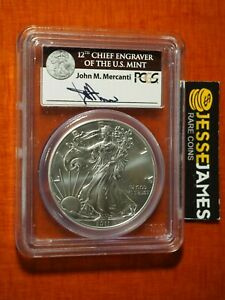 2011-S-SILVER-EAGLE-PCGS-MS69-MERCANTI-FIRST-STRIKE-FROM-25TH-ANNIVERSARY-SET